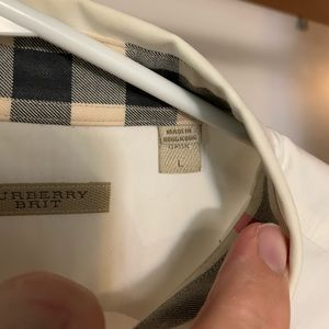 Burberry Brit Classic Fit Men's Large Dress Shirt